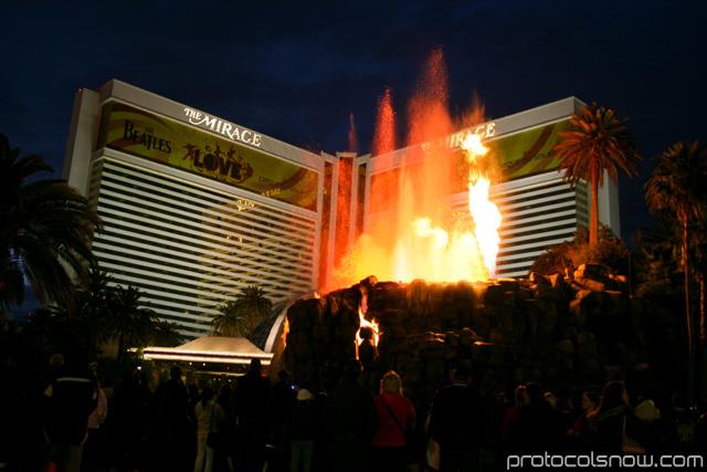 Mirage volcano resort casino hotel Las Vegas