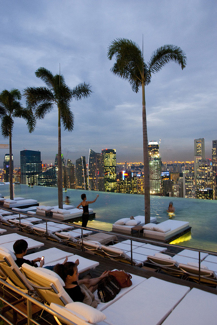 Marina Bay Sands Singapore infinity pool Skypark casino hotel