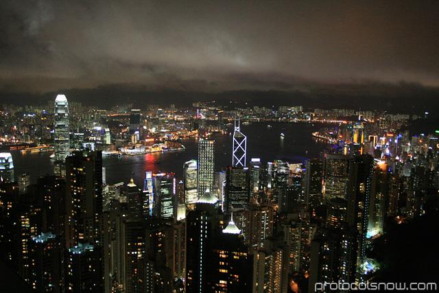 Hong Kong Peak night skyline