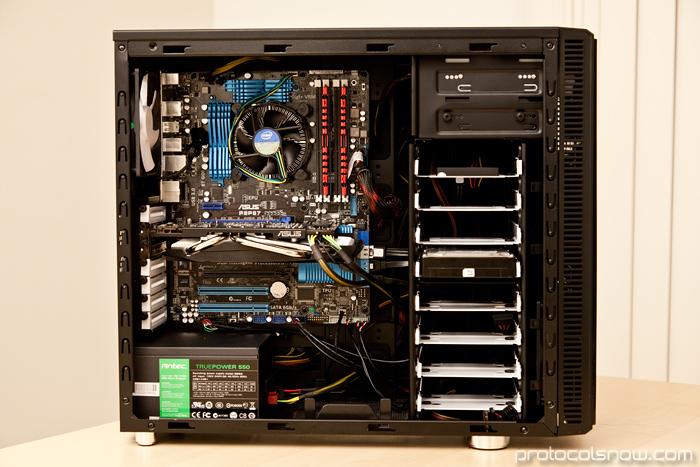 PC build Intel i5 2500k CPU Fractal Design Define R3 case Asus P8P67 motherboard mobo