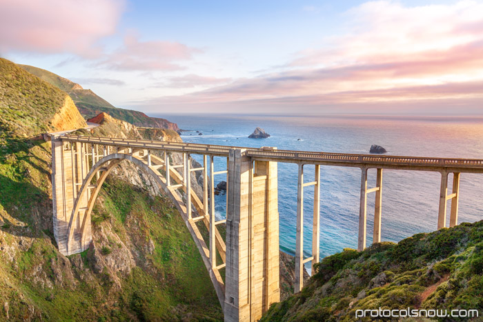 Bixby Bridge Pacific Coast Highway PCH Big Sur