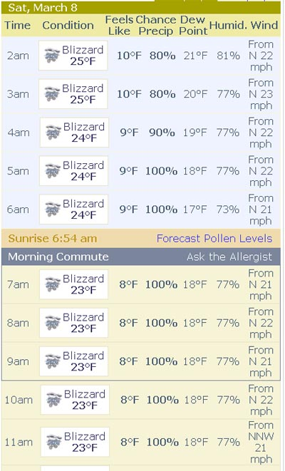 Weather blizzard
