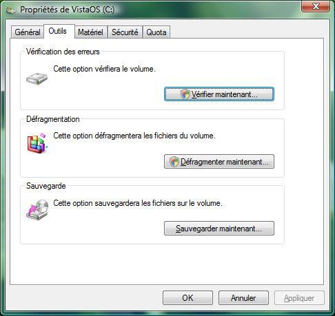 Capture d'écran - Vérification des disques à l'aide de CHKDSK