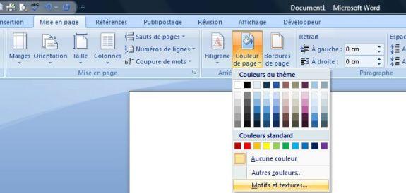 Capture d'écran - Module Couleur de page