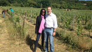 Margeaux Lampley and Didier Théophile,  co-owners of Domaine MasLauris.  Photo provided by Lampley