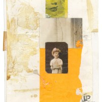 "Lars Pryds: ""A Couple o' Girls #2"", 2013. Collage på papir, 28 x 23 cm."