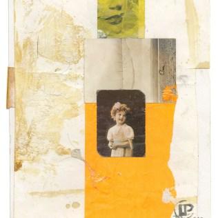 "Lars Pryds: ""A Couple o' Girls #2"", 2013. Collage på papir, 28 x 23 cm."