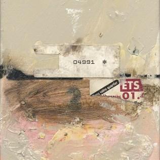 """""""Fragile #6 – 04991"""", 2003. Maleri/collage på lærred, 24 x 18 cm. Foto: Lars Pryds."""