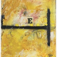 "Lars Pryds: ""Ee-T"", 2012. Maleri/collage 30x25 cm."