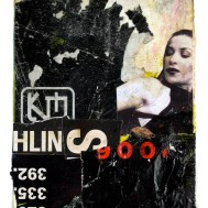"""Lars Pryds: """"Danserinden"""", 2007. Collage på papir 19x14 cm."""