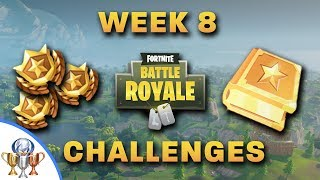 Fortnite All Week 8 Challenges Search Between 3 Boats Dance On