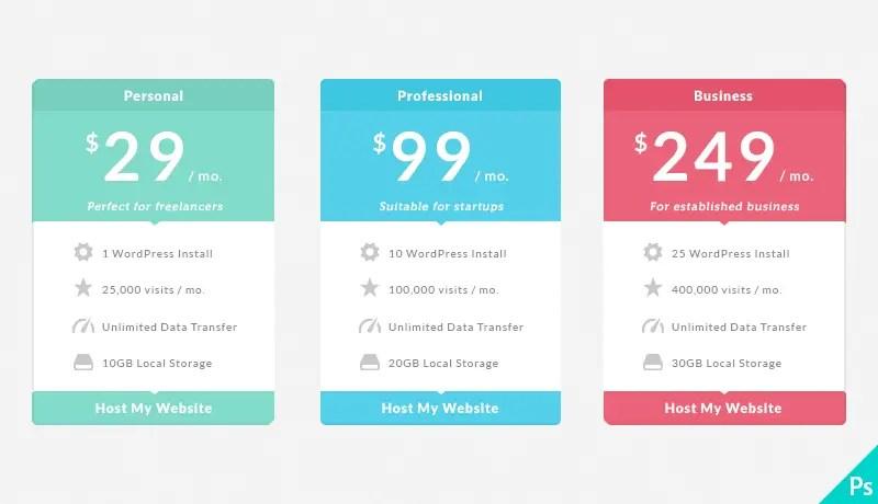 40+ Best Price List Tables - Free PSD Download   PSDTemplatesBlog