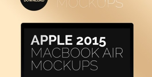 Apple MacBook Air 2015 Mockup PSD
