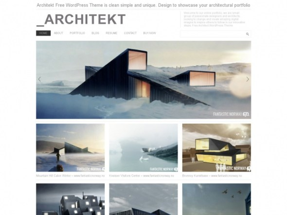 Architekt WordPress Portfolio Theme