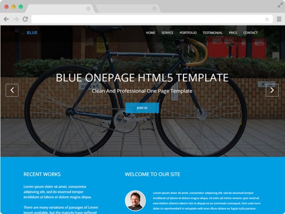 Blue - Free One Page Corporate Agency Bootstrap Template