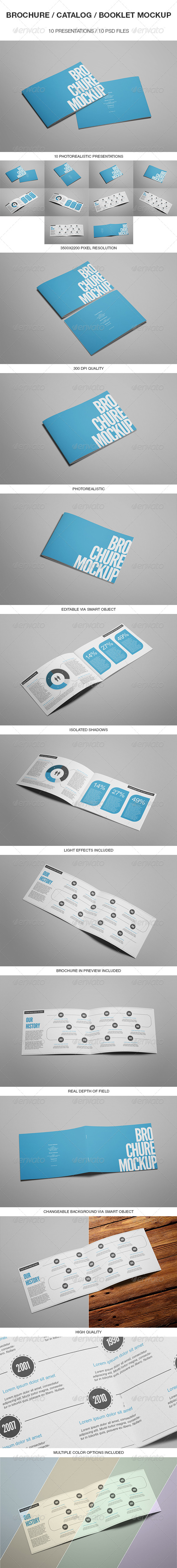 Brochure Catalog Booklet Mockup
