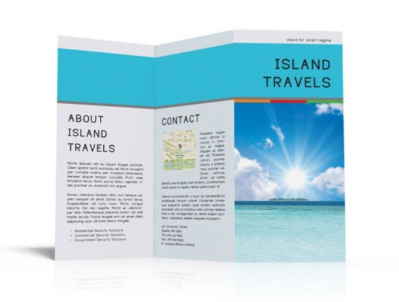 Free Brochure Template PSD For Travel Companies