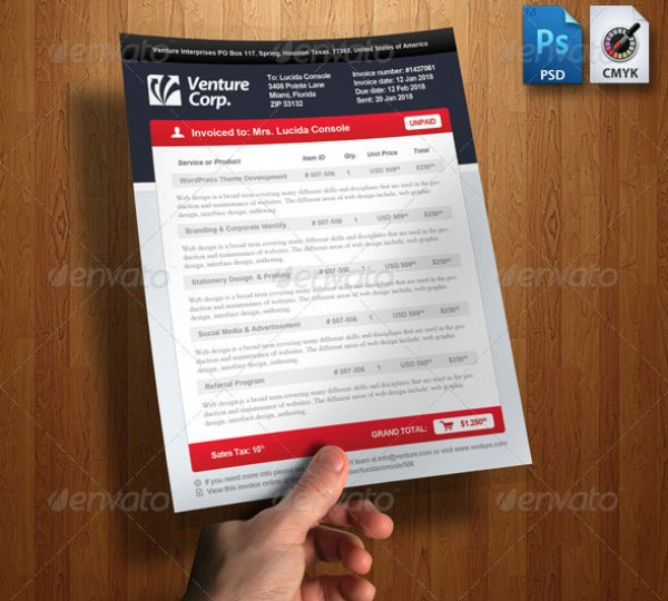 38+ invoice templates psd docx indd - free download | psdtemplatesblog, Invoice templates