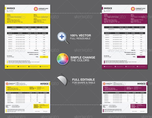 38+ invoice templates psd docx indd - free download | psdtemplatesblog, Invoice examples
