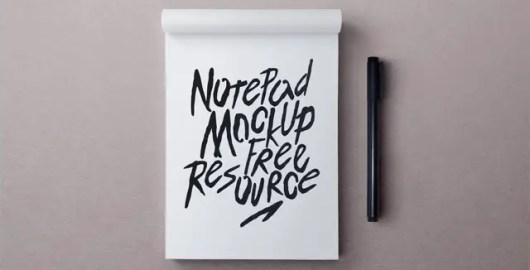 Notepad Mockup PSD - Free Download