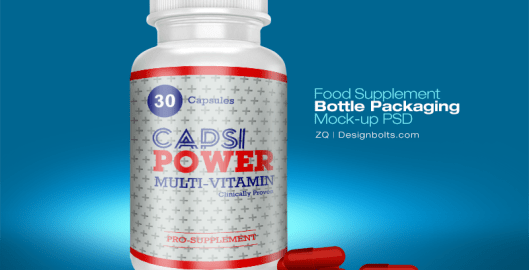 Supplement Bottle Mockup PSD - Free Download