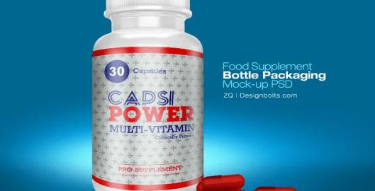 Supplement Bottle Mockup PSD - Free Download