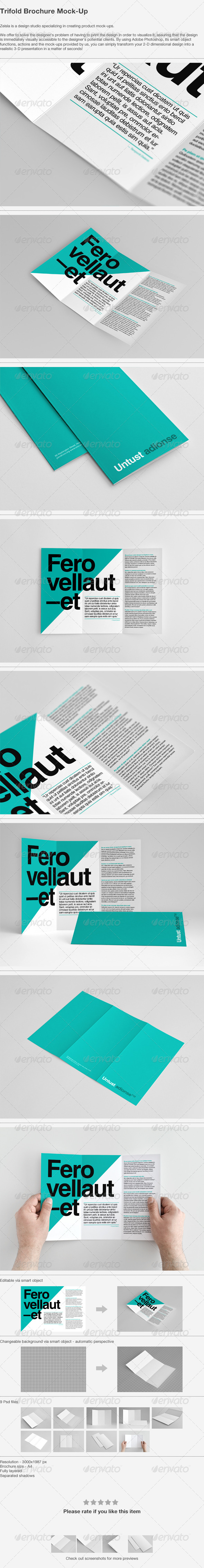 Trifold Brochure Mock-Up