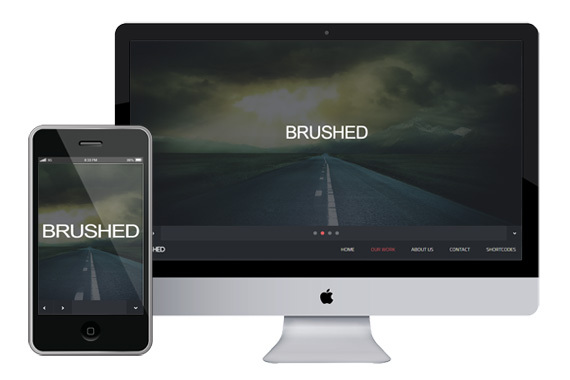 brushed-responsive-html5-template