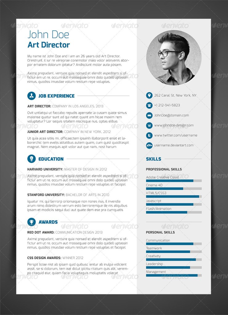 3-Piece Resume CV Cover Letter