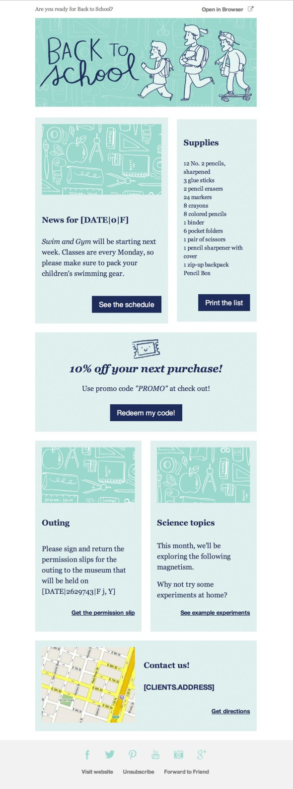 Back To School Email Newsletter Template