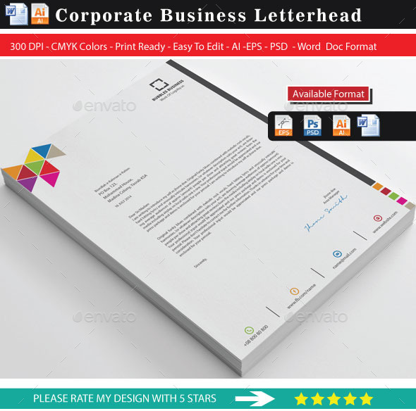 Letterhead Format In Word. Free Letterhead Template - Word