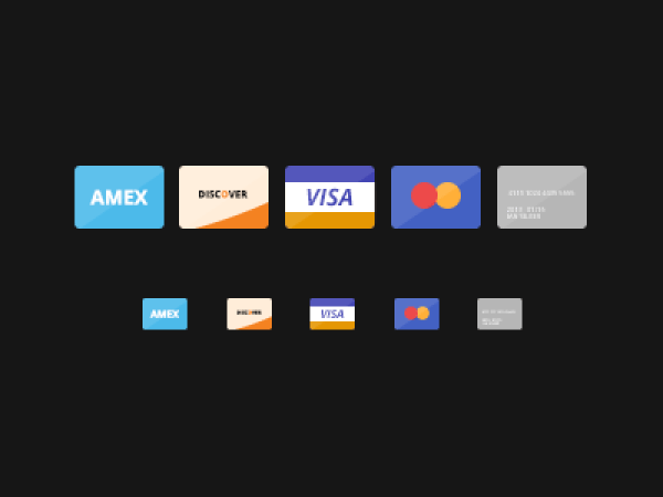 Free Flat Credit Cards PSD