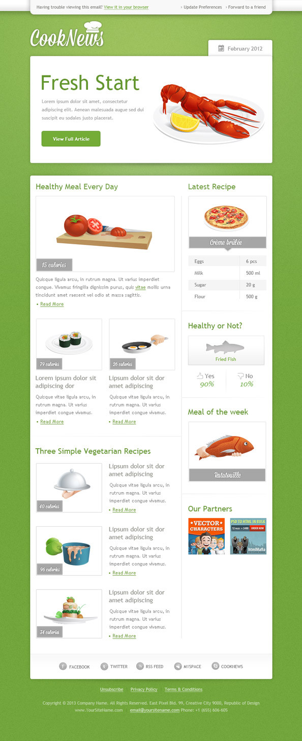 Green Email Newsletter Template