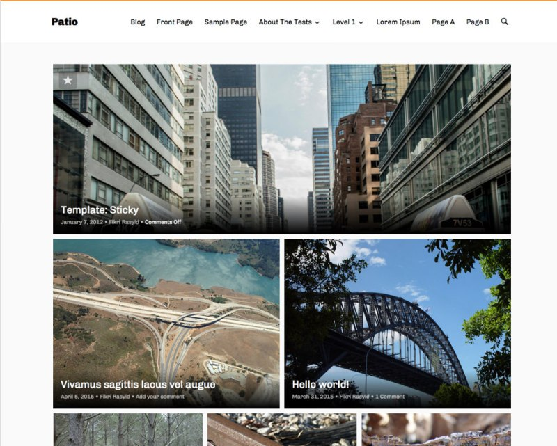 Patio WordPress Photography Theme