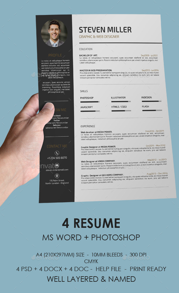 resume format word docx document download stylish template