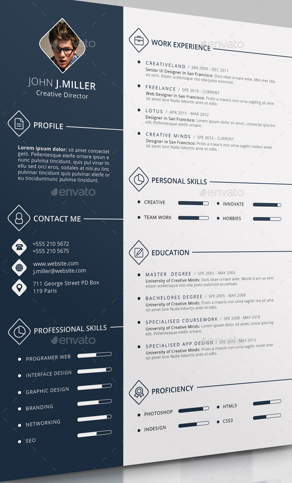 The CV Template PSD