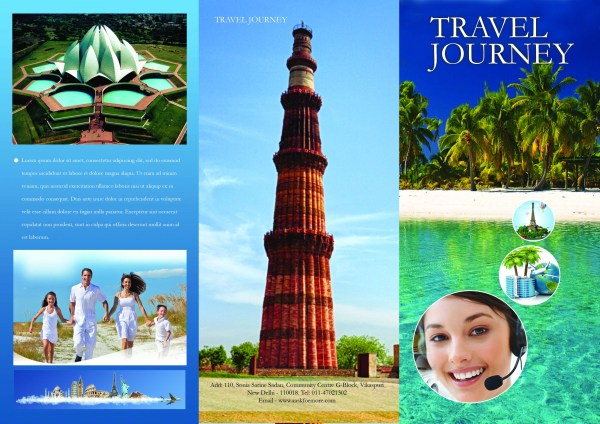 65 print ready brochure templates free psd indesign ai for Travel brochures templates
