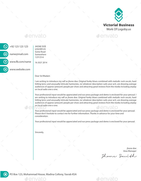 12 Free Letterhead Templates in PSD MS Word and PDF Format – Business Letterhead