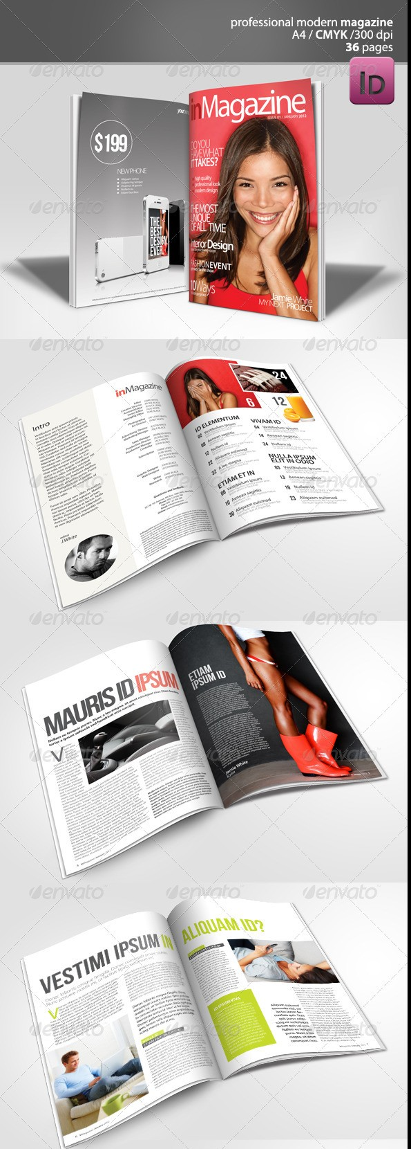 Modern Magazine 36 pages Template