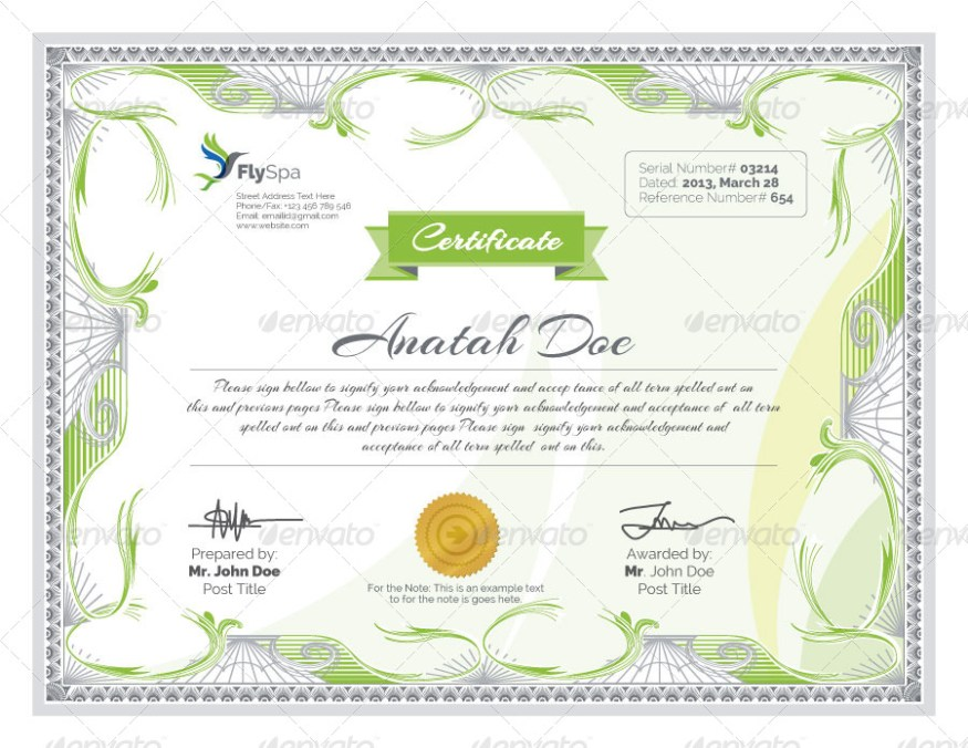 50 Diploma and Certificate Templates in PSD Word Vector