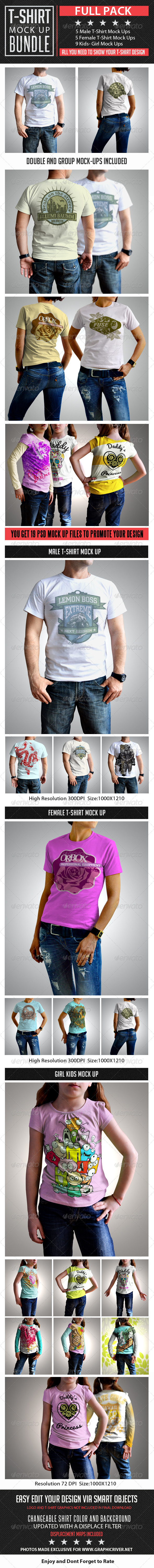 T-Shirt Mock Up Bundle