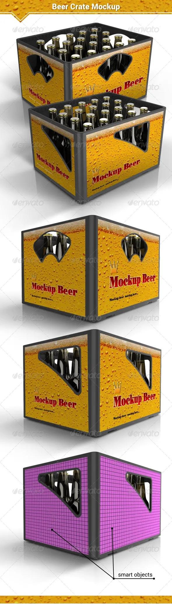 Beer Crate Mockup