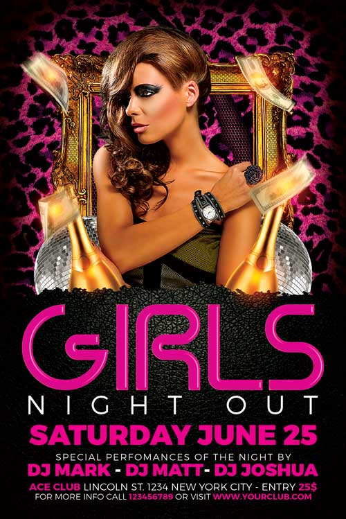 Free Ladies Night Flyer Template