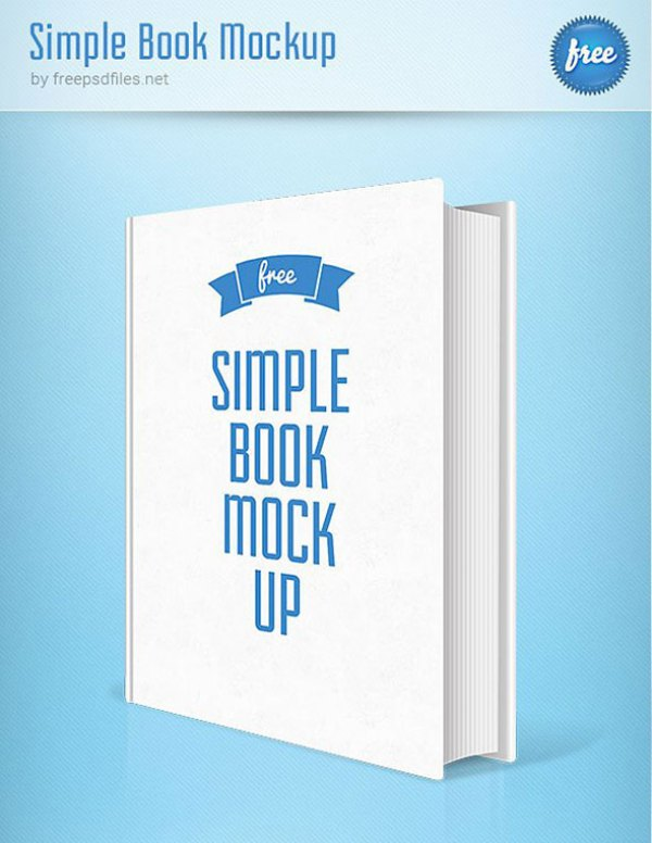 Simple Book PSD Mockup