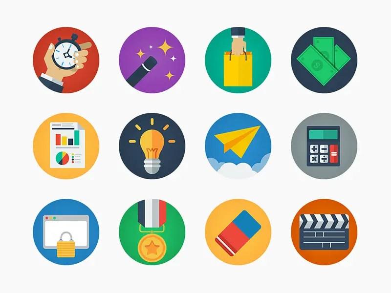 20 Modern Flat Icons