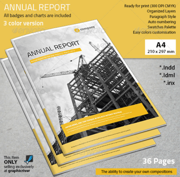 32 InDesign Annual Report Templates For Corporate Businesses – Annual Reports Templates