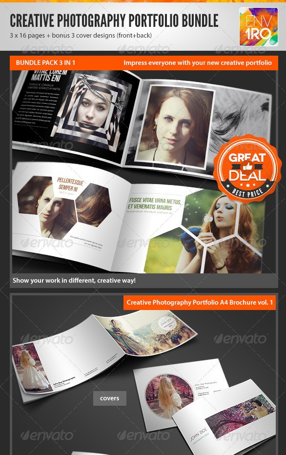Creative Photography Portfolio A4 Brochures