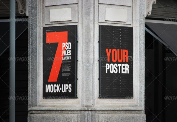3D Poster Mockup Template