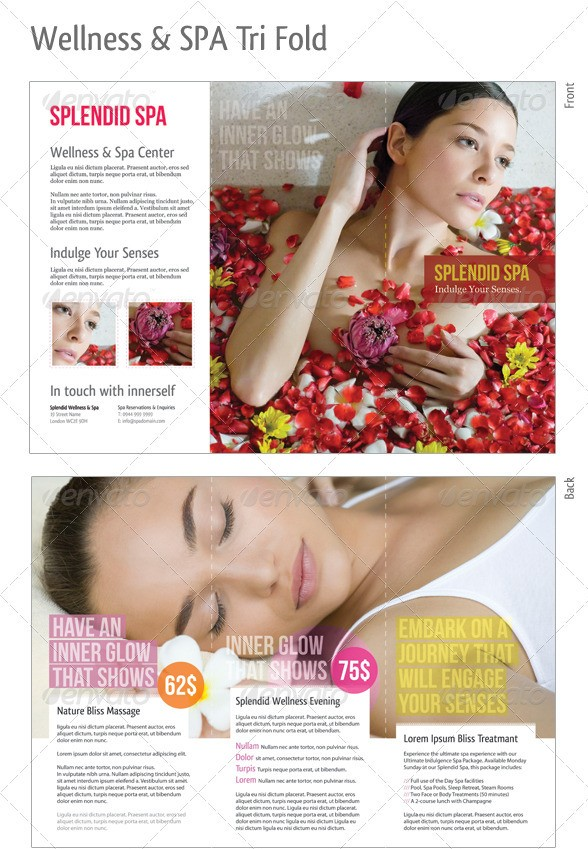Wellness & Spa Tri-Fold Brochure