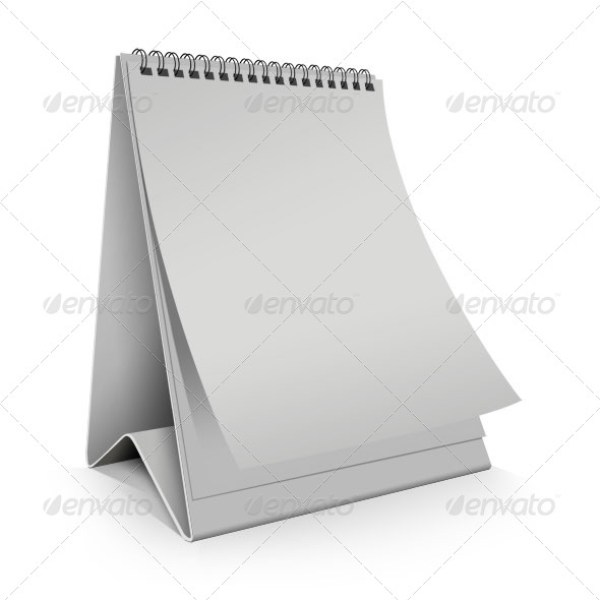 Blank Desk Calendar vertical